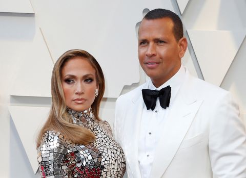 Jennifer Lopez en una de las últimas instantáneas con su expareja Alex Rodriguez.