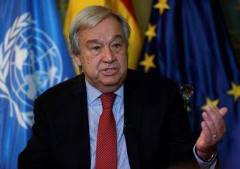 Imagen de archivo del secretario general de la ONU, Antonio Guterres.