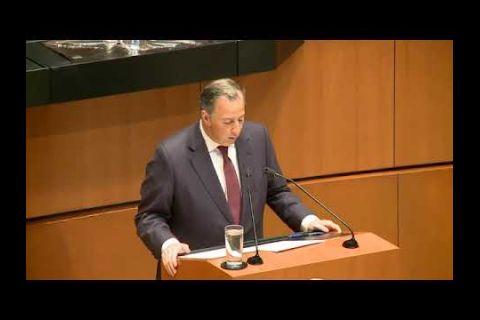 Embedded thumbnail for    Meade Kuribeña durante su comparecencia en el Senado de la República