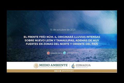 Embedded thumbnail for Pronóstico del Tiempo 15 de octubre de 2021