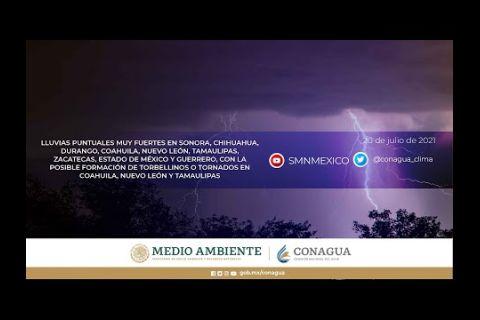 Embedded thumbnail for Pronóstico del Tiempo 20 de julio de 2021