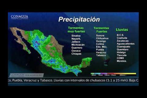 Embedded thumbnail for Pronóstico del Tiempo 15 de agosto de 2017