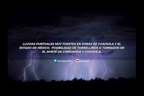 Embedded thumbnail for Pronóstico del Tiempo 31 de mayo de2021