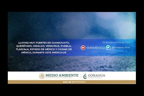 Embedded thumbnail for Pronóstico del Tiempo 29 de septiembre de 2021