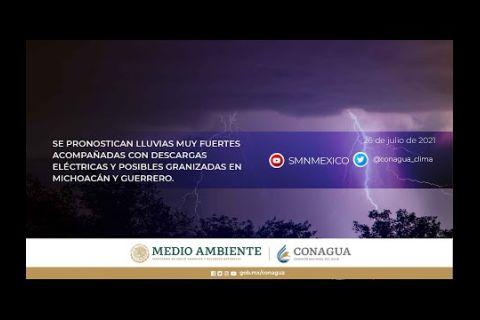 Embedded thumbnail for Pronóstico del Tiempo 26 de julio de 2021