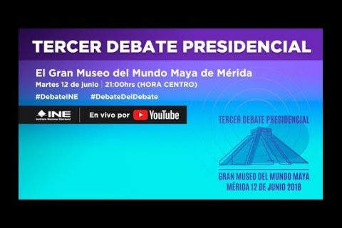 Embedded thumbnail for Tercer Debate Presidencial #Elecciones2018