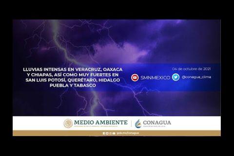Embedded thumbnail for Pronóstico del Tiempo 4 de octubre de 2021