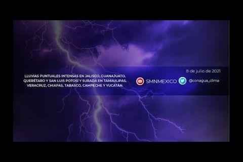 Embedded thumbnail for Pronóstico del Tiempo 8 de julio de 2021