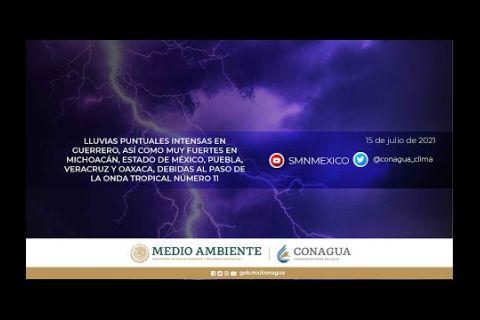 Embedded thumbnail for Pronóstico del Tiempo 15 de julio de 2021