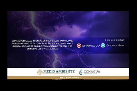 Embedded thumbnail for Pronóstico del Tiempo 7 de julio de 2021