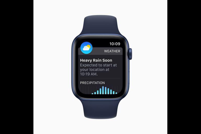 Foto del folleto que Apple puso a disposición que muestra el watchOS 8 presentado con nuevas funciones de acceso, conectividad y atención plena para Apple Watch, en Cupertino, California, EE. UU., 7 de junio de 2021.