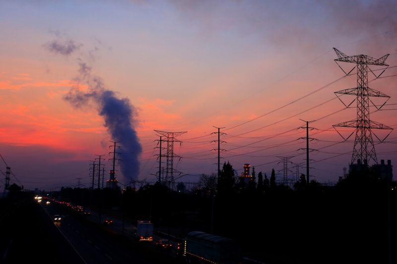 Fotografía del pasado 22 de abril de 2021 donde se observa la termoeléctrica de Tula, en el estado de Hidalgo (México).