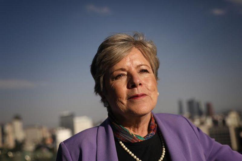 En la imagen un registro de la secretaria ejecutiva de la Comisión Económica para América Latina y El Caribe (Cepal), Alicia Bárcena.