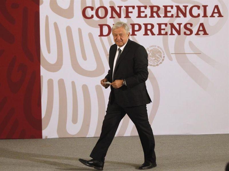 El presidente de México, Andrés Manuel López Obrador, durante su conferencia de prensa matutina en Ciudad de México (México).