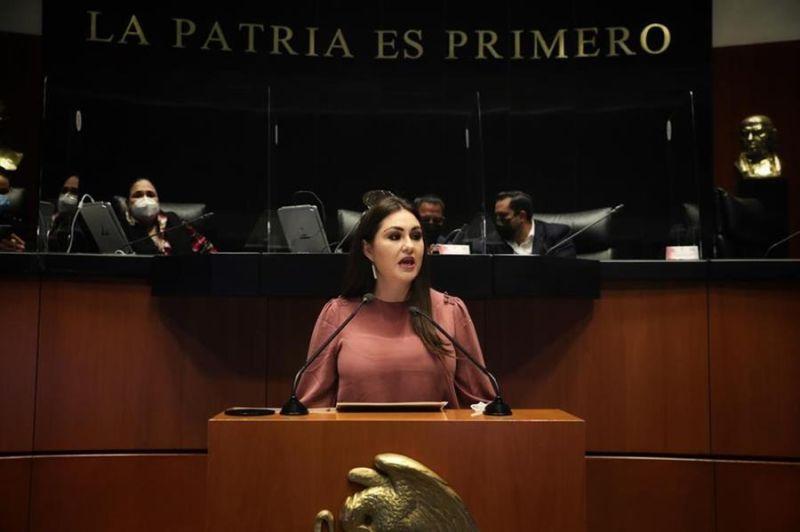Fotografía cedida este martes del pleno de la Cámara de Senaadores en Ciudad de México (México).