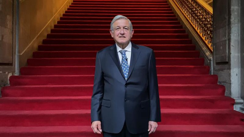 Fotografía cedida por la casa presidencial del presidente de México, Andrés Manuel López Obrador hoy en Ciudad de México.  050221