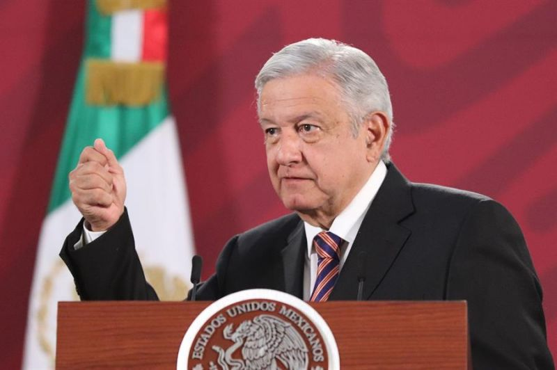 El Presidente de México, Andrés Manuel López Obrador, ofrece una rueda de prensa matutina en Palacio Nacional, de Ciudad de México (México).