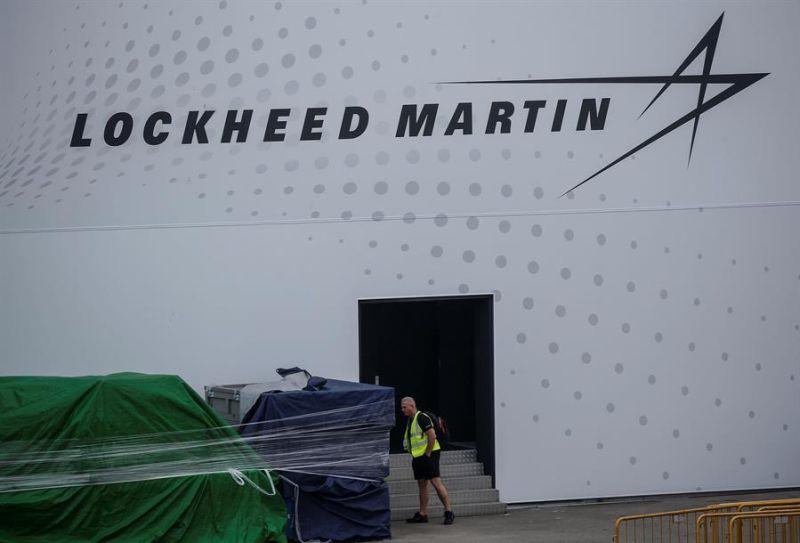 Vista del logo de la empresa estadounidense Lockheed Martin.