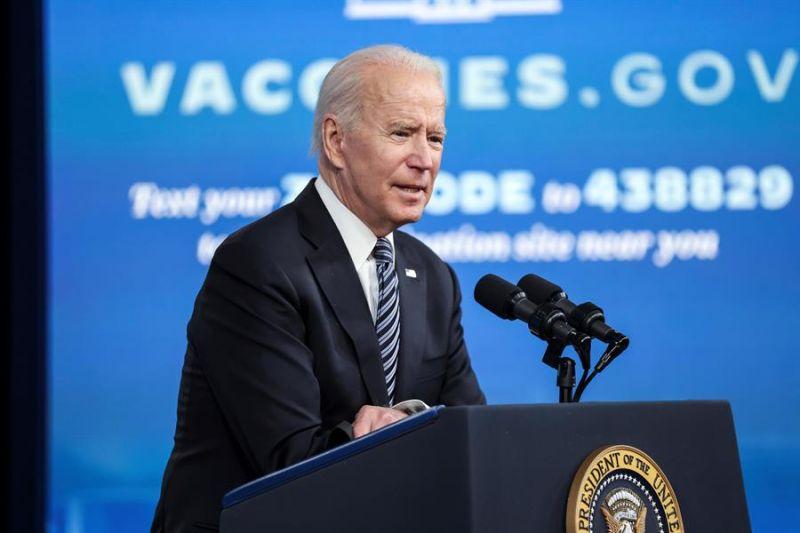 El presidente de Estados Unidos, Joe Biden, habla en conferencia de prensa en la Casa Blanca en Washington (EE.UU.), este 12 de mayo de 2021.