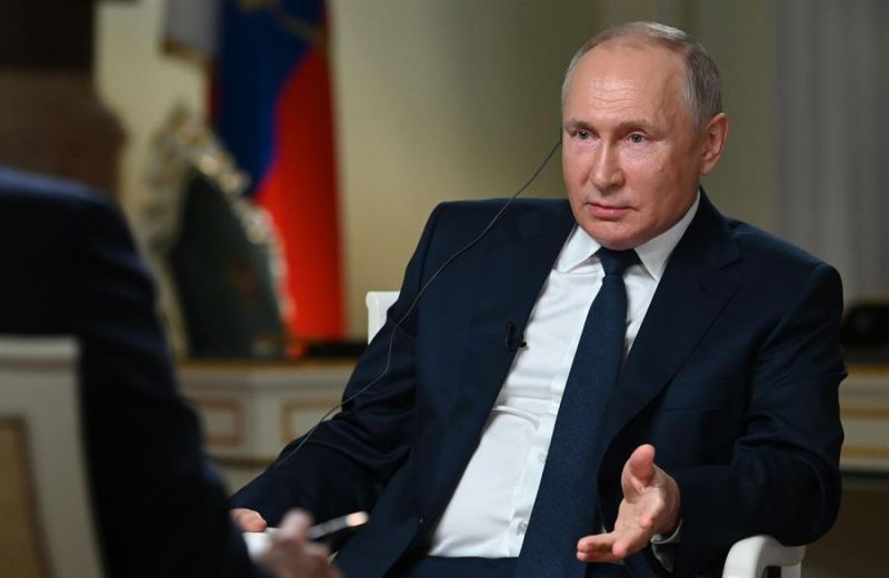 El presidente ruso, Vladimir Putin, en una entrevista concedida el lunes a la cadena NBC en Moscú.