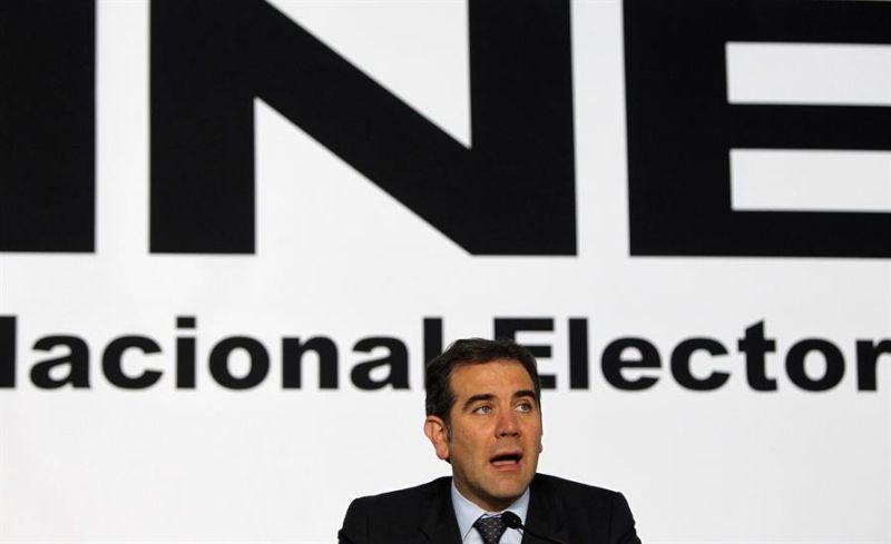 El presidente del Instituto Nacional Electoral (INE), Lorenzo Córdova, participa el 5 de julio de 2018, durante una rueda de prensa en Ciudad de México (México).