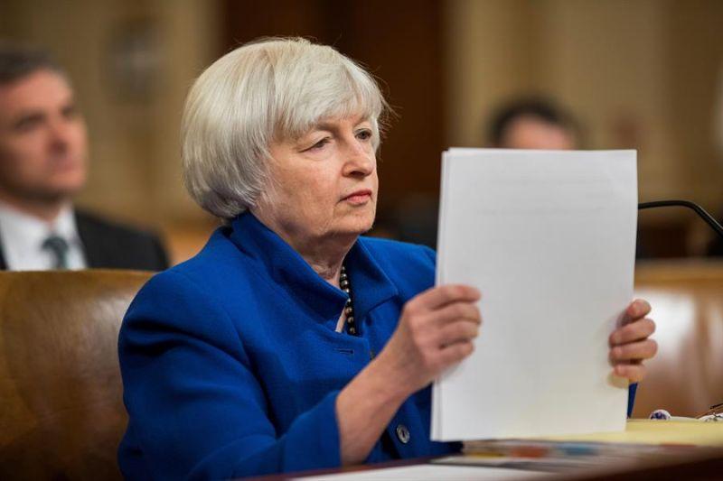 En la imagen, la secretaria del Tesoro de Estados Unidos, Janet Yellen.
