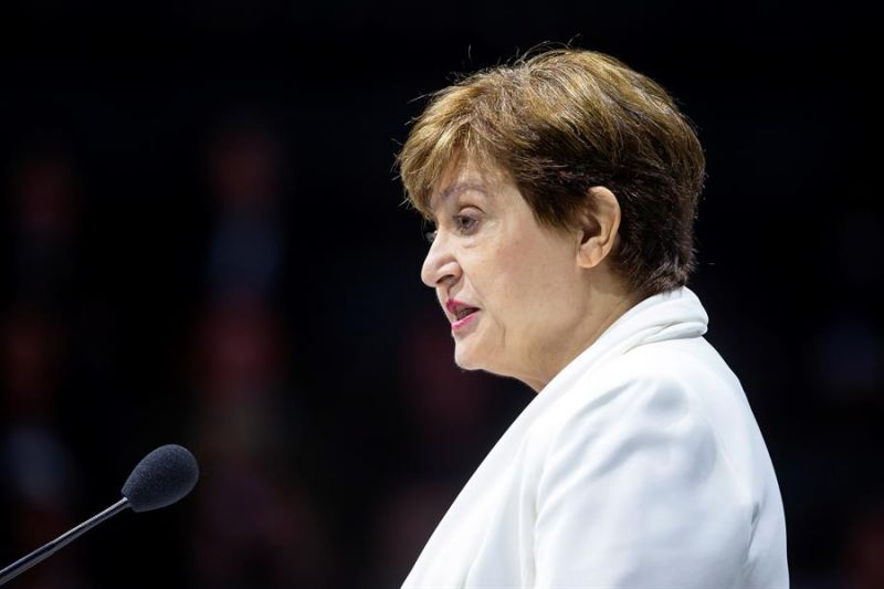 En la imagen, la directora gerente del Fondo Monetario Internacional (FMI), Kristalina Georgieva.