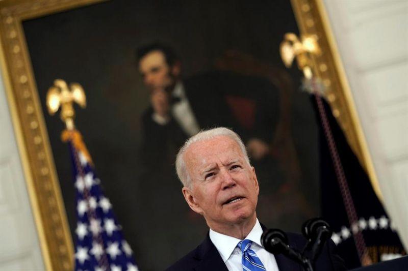 El presidente de Estados Unidos, Joe Biden, pronuncia un discurso sobre la recuperación económica en el Comedor Estatal de la Casa Blanca en Washington, DC, el 19 de julio de 2021.