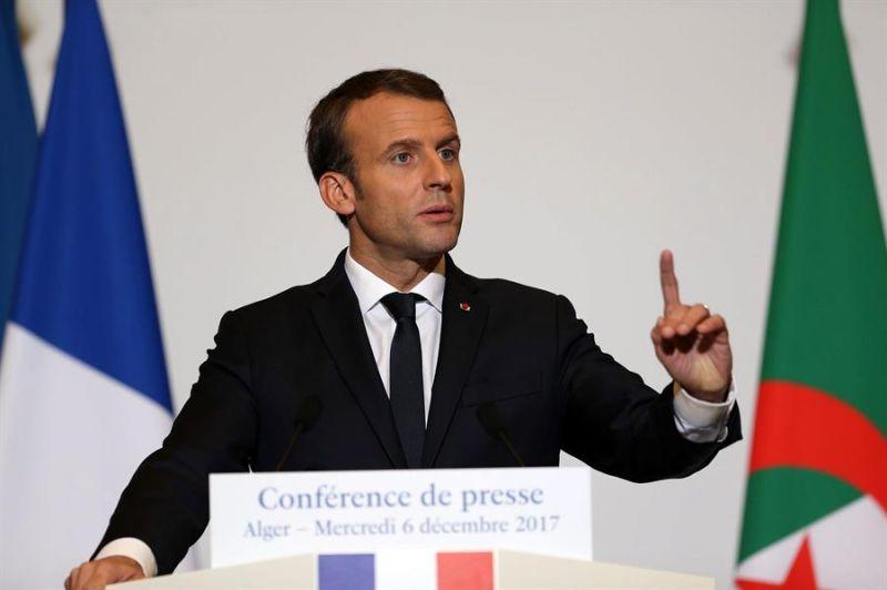 MOH10. AREl presidente francés Emmanuel Macron durante una conferencia de prensa en Argel (Argelia).