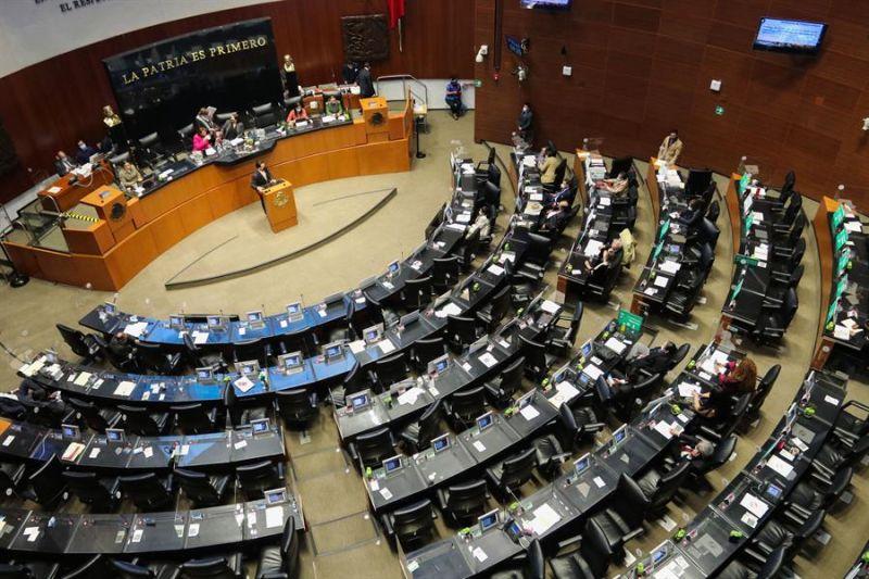 Vista del pleno de la Cámara de Senadores en Ciudad de México (México).