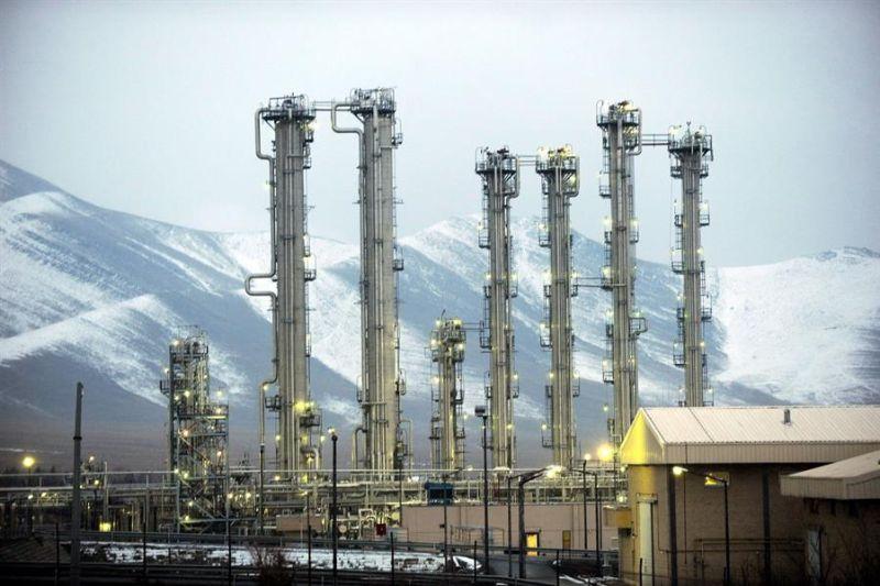 Imagen tomada el 15 de enero de 2011 que muestra el reactor de agua pesada de la ciudad de Arak (Irán).