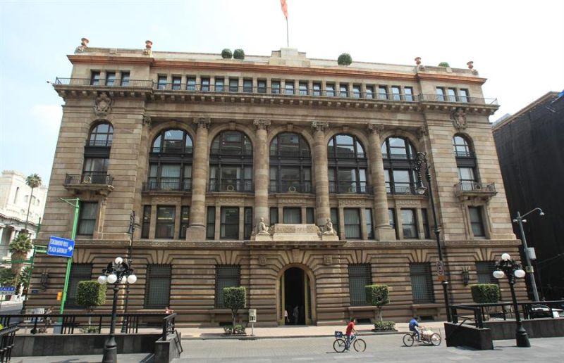 Vista general del edificio del Banco Nacional de México Banco, en Ciudad de México.