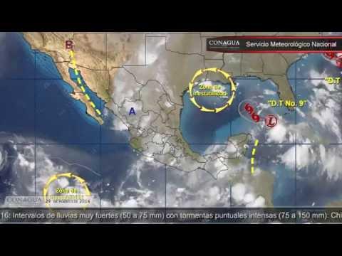 Embedded thumbnail for Pronóstico del Tiempo 29 de agosto de 2016