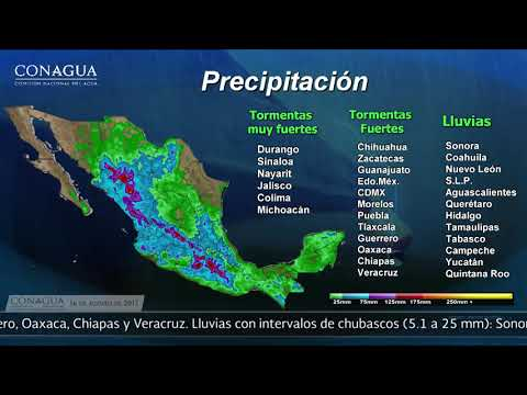 Embedded thumbnail for Pronóstico del Tiempo 16 de agosto de 2017
