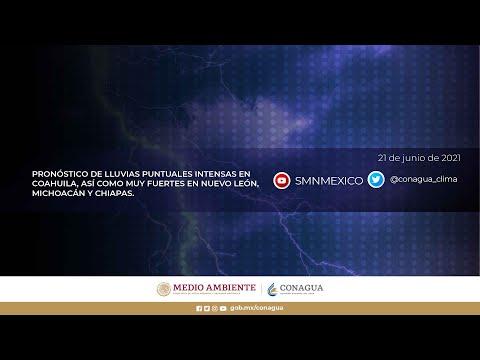 Embedded thumbnail for Pronóstico del Tiempo 21 de junio de 2021