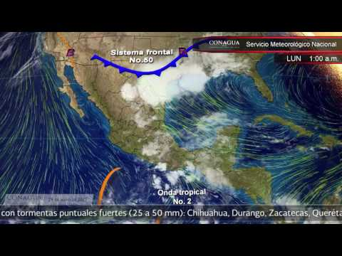 Embedded thumbnail for Pronóstico del Tiempo 29 de mayo de 2017