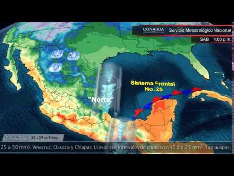 Embedded thumbnail for Pronóstico del Tiempo 28 y 29 de enero de 2017