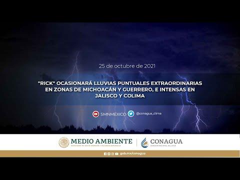 Embedded thumbnail for Pronóstico del Tiempo 25 de octubre de 2021