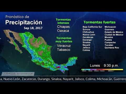 Embedded thumbnail for Pronóstico del Tiempo 18 de septiembre de 2017