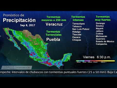 Embedded thumbnail for Pronóstico del Tiempo 7 de septiembre de 2017